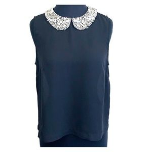 Soprano Beaded Jewel Collar Necklace Tank Top M